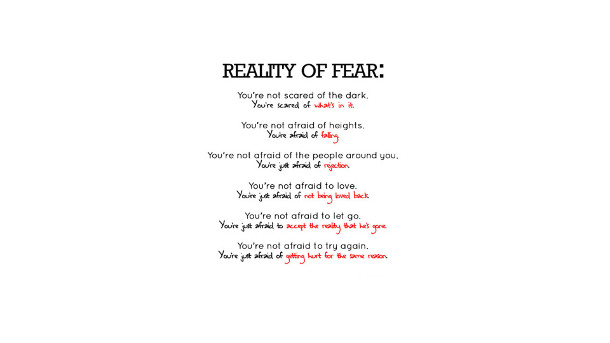 Motivation reality of fear