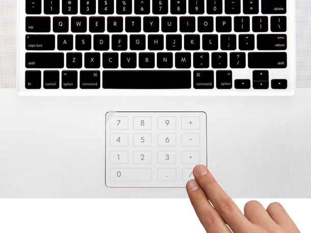 Number pad sticker