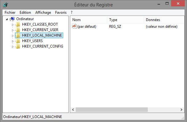outils Windows éditeur registre