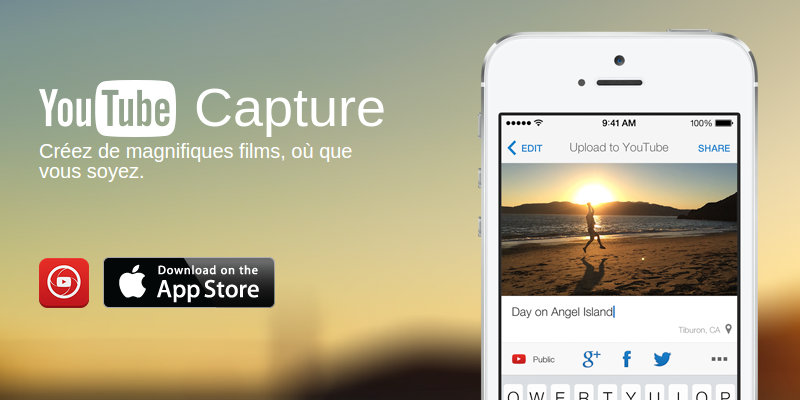Outils YouTube capture iOS