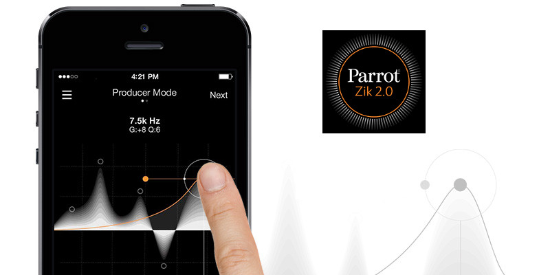 Parrot Zik 2.0 application mobile