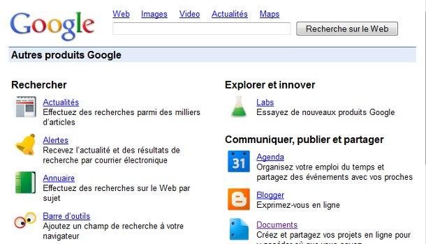 Produits Google