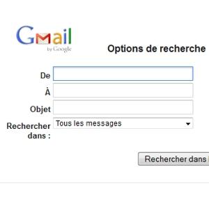 recherche Gmail