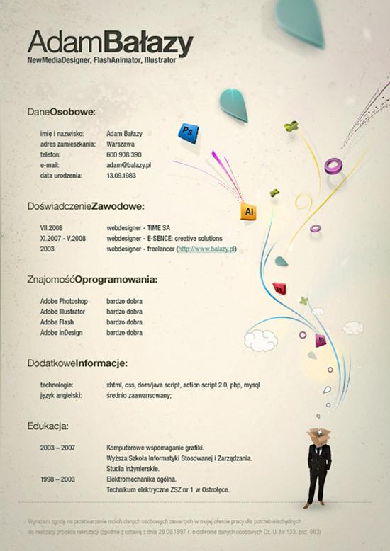 CV graphiste 1