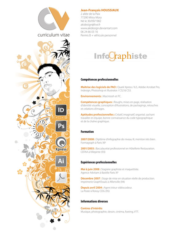 CV graphiste 8