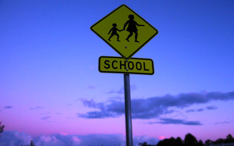 Retour à l'école : panneau
