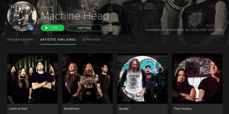 Spotify - artistes similaires