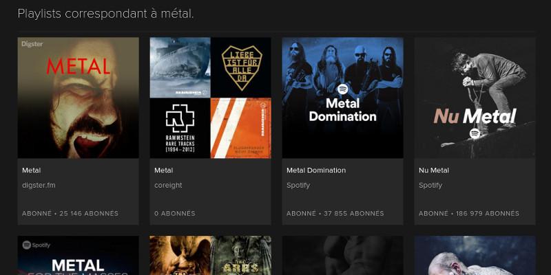 Spotify - playlists des utilisateurs