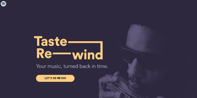Spotify - remonter le temps avec Taste Rewind