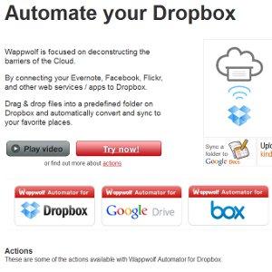 Stockage en ligne automatisation WappWolf