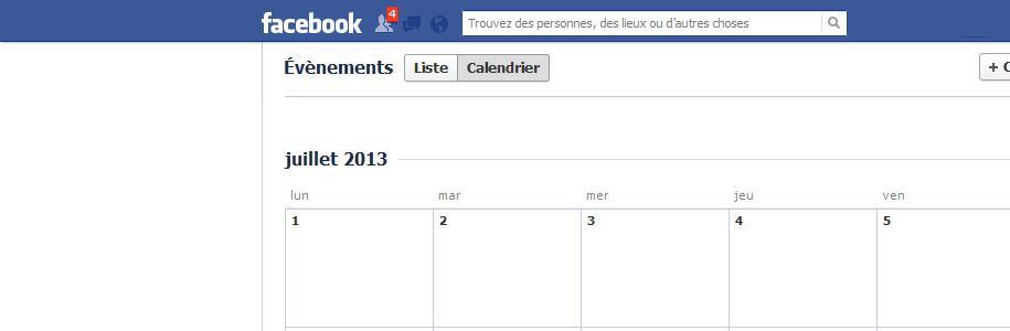 Prends le contrôle de ton agenda sur Facebook !