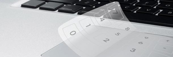 Un concept pour utiliser le touchpad de son PC portable comme pavé numérique