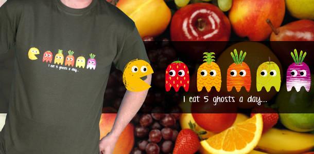 tee-shirt geek pacman