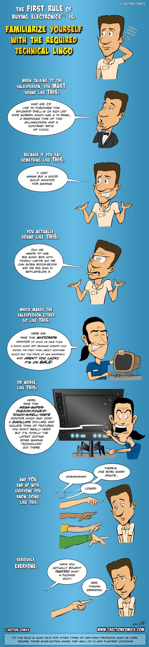 La première règle d'un achat d'électronique