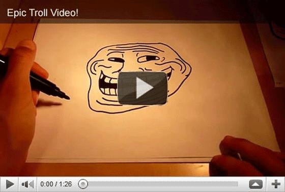 Troll vidéo