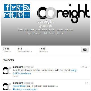 Twitter recherche profil