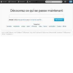 Twitter recherche publique