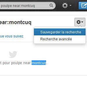 Twitter sauvegarde recherche
