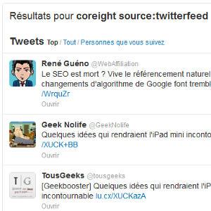 Twitter recherche source