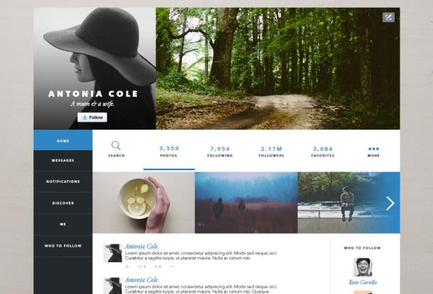 Twitter redesign par Estie Carrillo