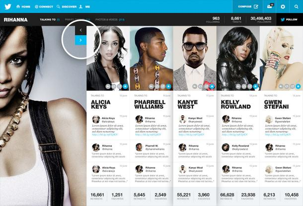 Twitter redesign par Fred Nerby