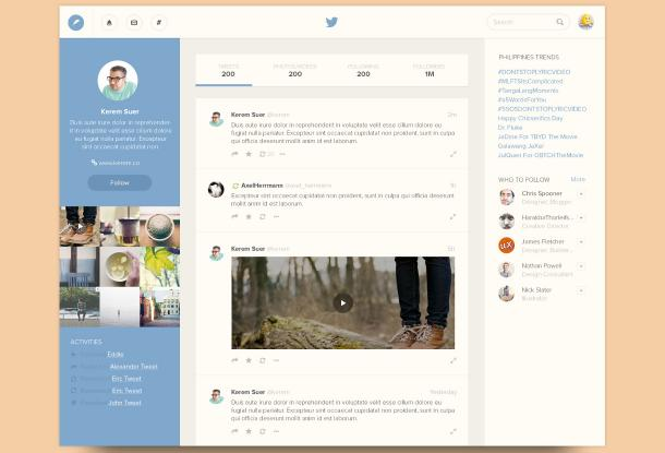 Twitter redesign par Ramil (Bluroon)