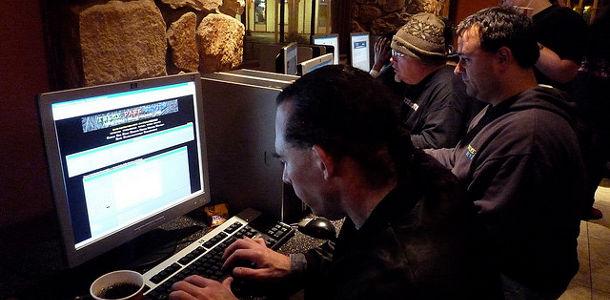 Vie privée web cybercafé