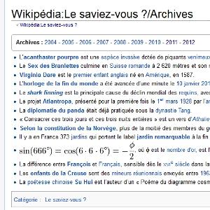 Wikipédia Le saviez-vous ?