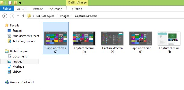 Windows 8 captures d'écran
