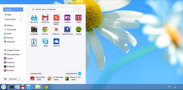 Windows 8 menu démarrer
