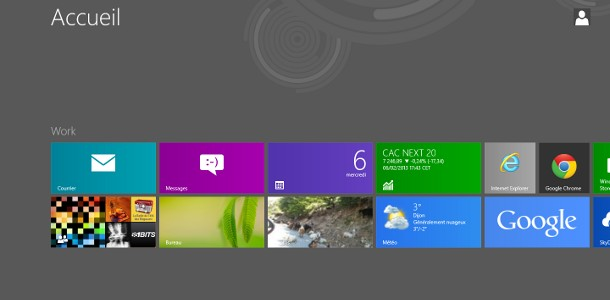 Windows 8 nombre de lignes