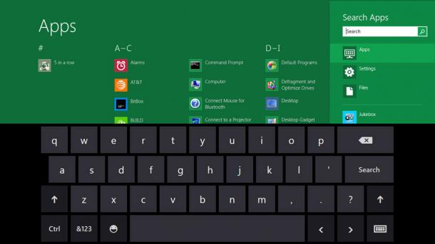 Windows 8 clavier virtuel